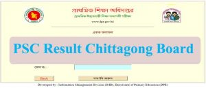 PSC Result 2019 Chittagong Board