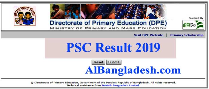PSC Result 2019: Primary Education Bangladesh