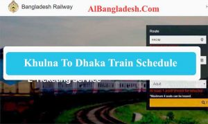 Khulna To Dhaka Train Schedule