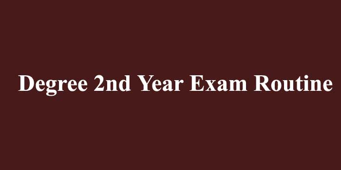 Degree 2nd Year Routine 2020 PDF Download