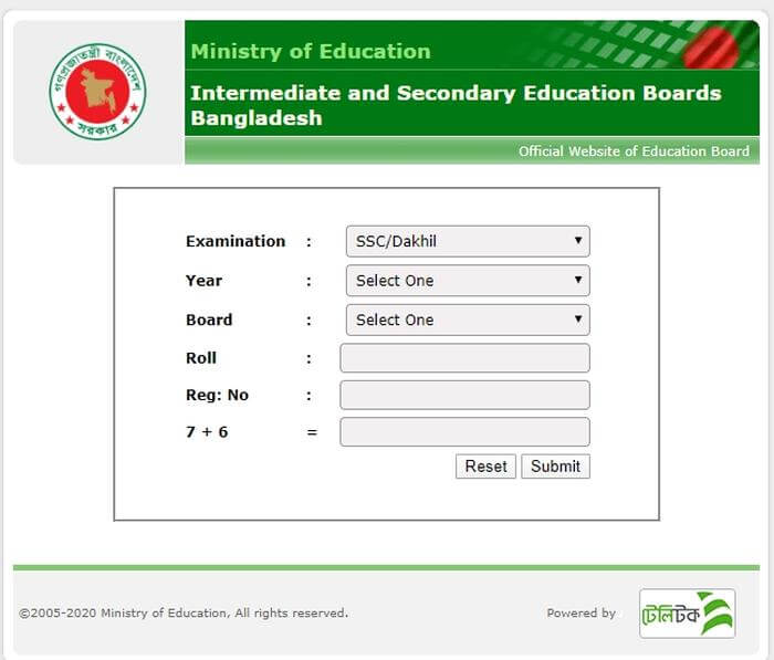 SSC Result GPA Download