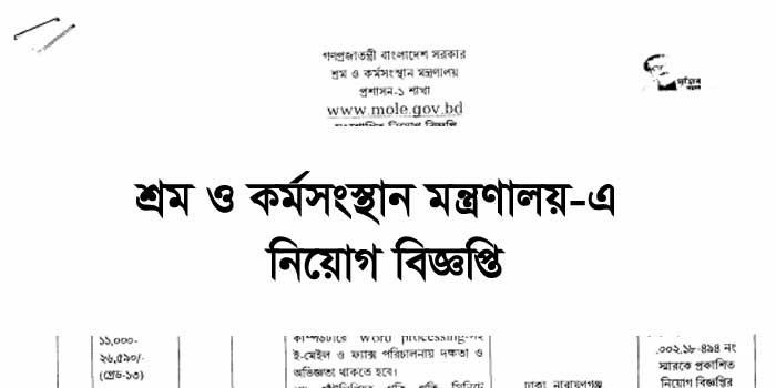 Ministry of Labour and Employment MOLE Job Circular 2021