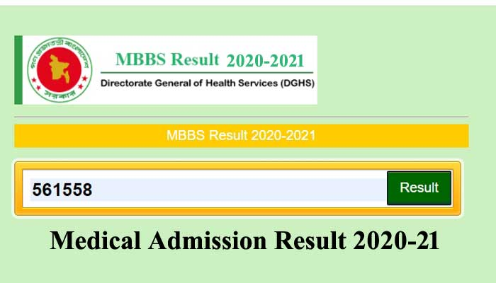 Medical Admission Result 2021 – MBBS Result 2020-2021