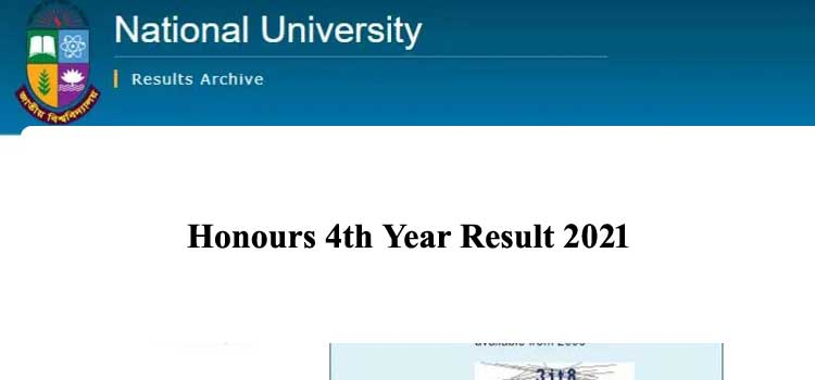 Honours 4th Year Result 2021 CGPA (প্রকাশিত)-Session (2015-16)